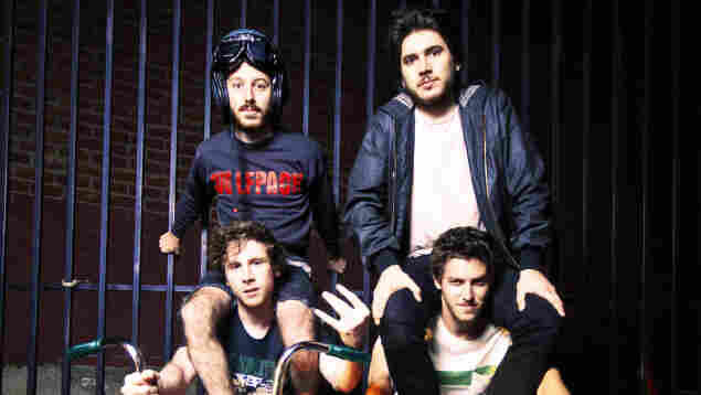 Anamanaguchi combines the sound chips of old Nintendos and Game Boys with the guitars and drums of rock.