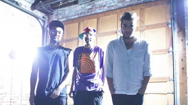 Das Racist is (left to right): Viktor 'Kool A.D.' Vazquez, Ashok 'Dap' Kondabolu, and Himanshu 'Heems' Suri (Bek Andersen)