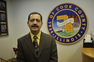 Democrat Jesus Garcia, of Chicago's Southwest Side, agrees with the Cook County measure to disregard Immigration and Customs Enforcement requests to hold inmates two business days beyond what their criminal cases require.
