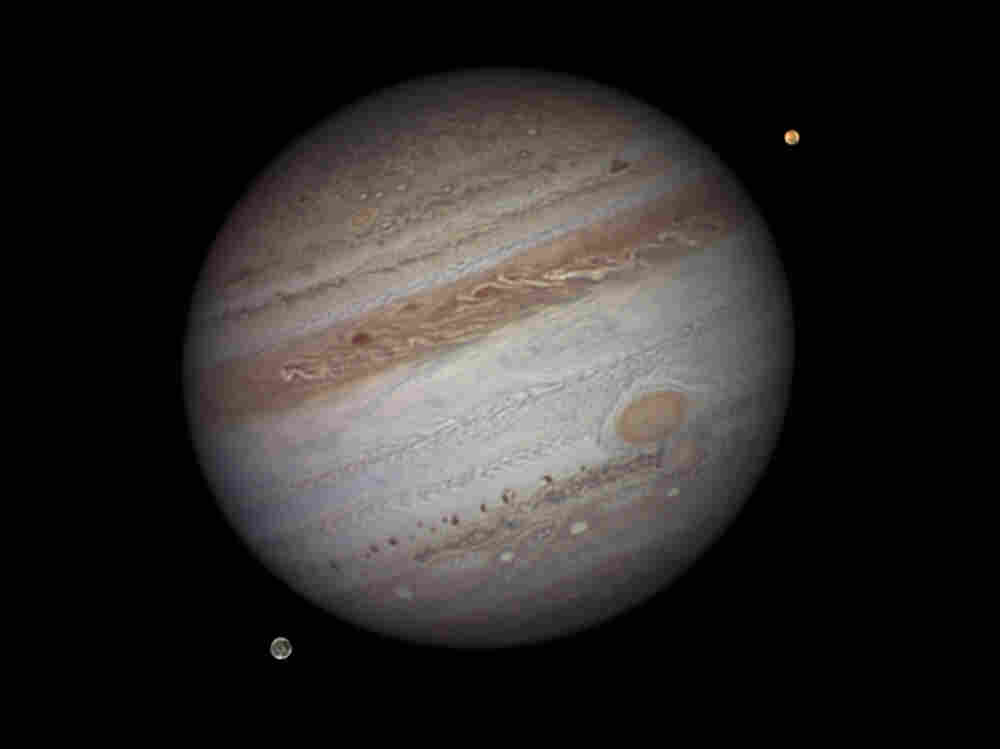 Jupiter with Io and Ganymede