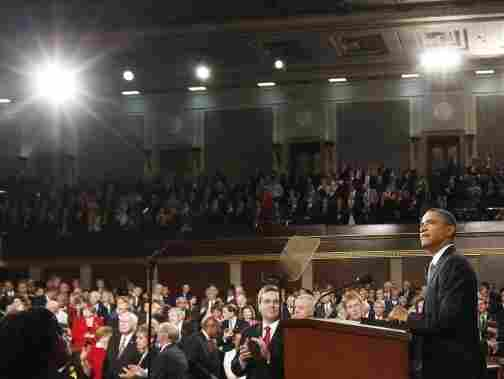 President Barack Obama waits to address a Joint Session of Congress  at the U.S. Capitol Sept. 8, 2011 in Washington, DC. Obama outlined his plan to create  jobs for millions of out of work Americans.