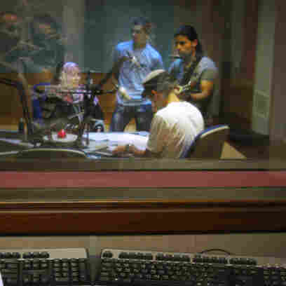 Musicians and other Libyans who once dared not express themselves are finding a new outlet on the country's newly freed radio stations. Shown here, a recent day at the studios of Radio Libya — once a state-run station — in Tripoli.