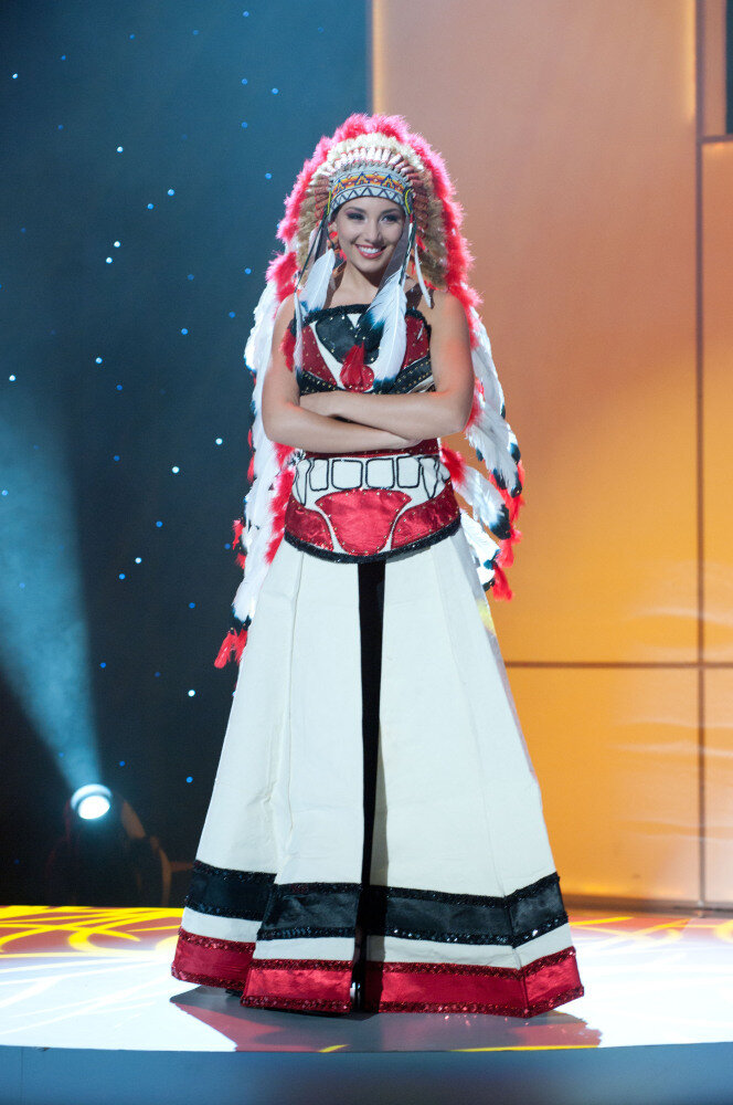 Miss USA Goes For Subtlety With Her National Costume For Miss Universe  NPR