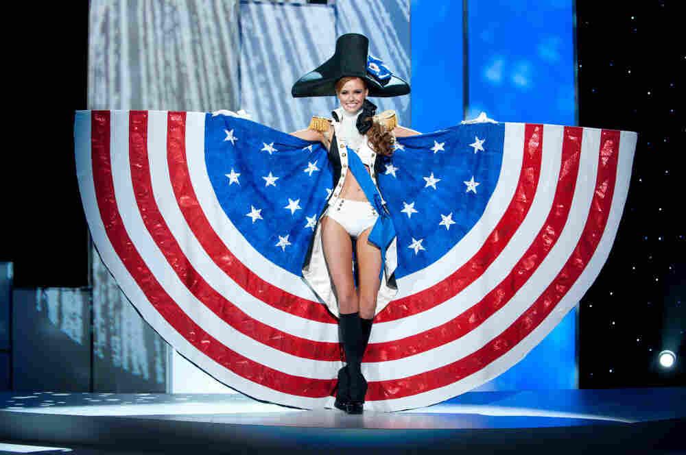 Miss USA 2011, Alyssa Campanella, in her national costume.