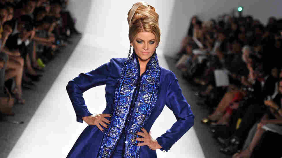 Kirstie Alley shows her stuff one more time at the Zang Toi Spring 2012 fashion show.