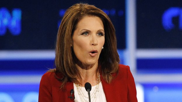 Minnesota Rep. Michele Bachmann during a Republican presidential debate Monday in Tampa, Fla. (AP)