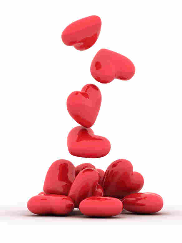 A pile of hearts.