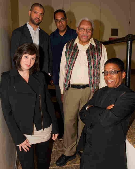 The judges for the Thelonious Monk International Jazz Piano Competition. L-R: Renee Rosnes, Jason Moran, Danilo Pérez, Ellis Marsalis, Herbie Hancock.