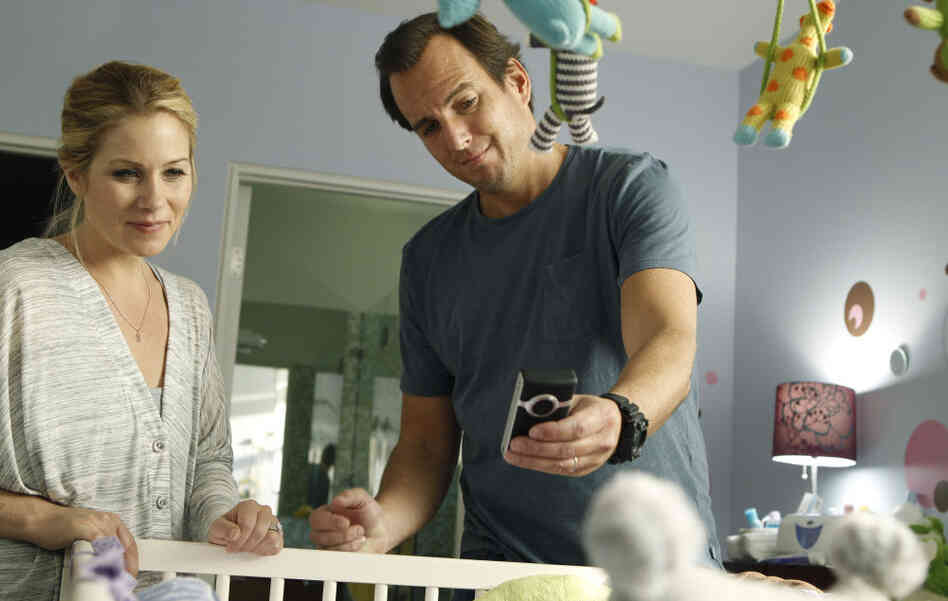 "Will Arnett and Christina Applegate play nervous new parents in the NBC sitcom Up All Night. ""It was the first time that I really identified with a character,"" says Arnett, who has two young kids."