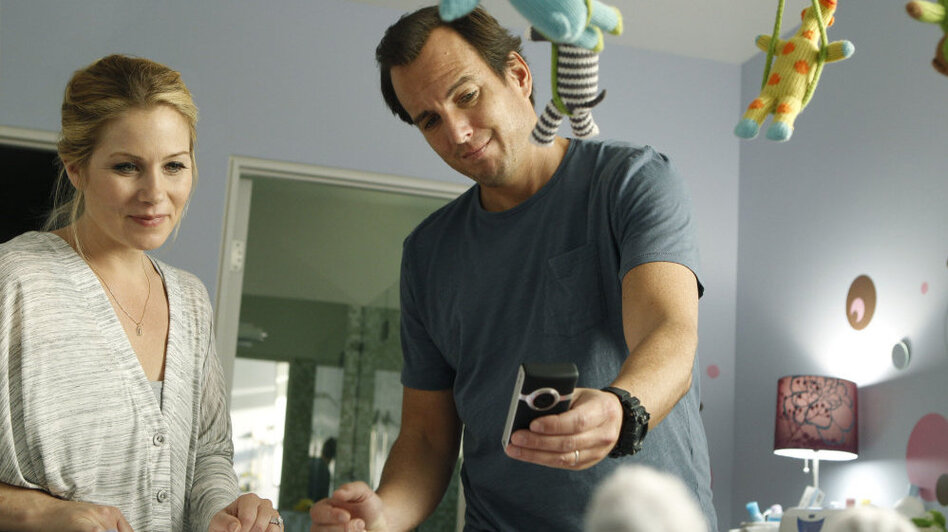 "Will Arnett and Christina Applegate play nervous new parents in the NBC sitcom Up All Night. ""It was the first time that I really identified with a character,"" says Arnett, who has two young kids. (NBC)"
