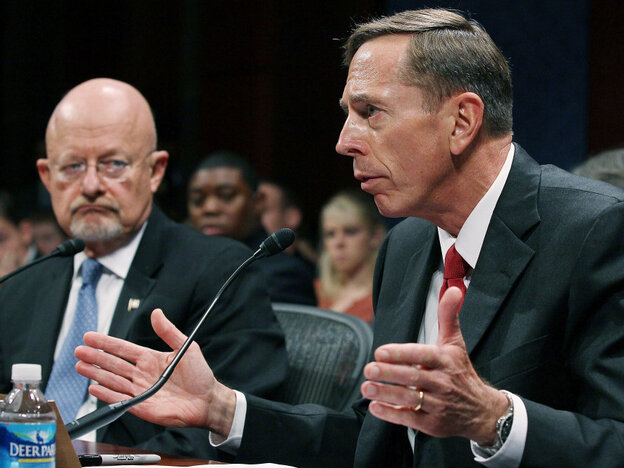 CIA Director David Petraeus (right) and Director of National Intelligence James Clapper testifying earlier today (Sept. 13, 2011).