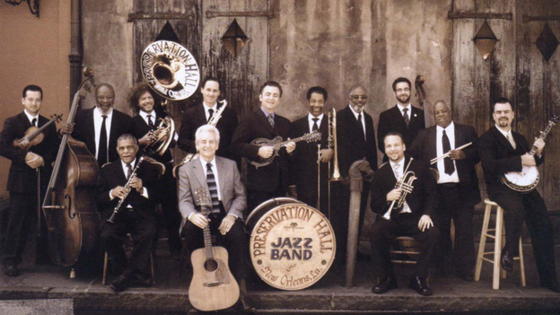 The Del McCoury Band and the Preservation Hall Jazz Band. (Courtesy of the artists)
