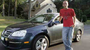 Richard Meehan, 16, with his car at his home in Shelton, Conn in 2008. Researchers say tougher licensing laws have led to fewer  fatal   car crashes involving 16-year-old drivers.