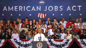 Traveling, Obama Gets Mixed Reaction Over Jobs