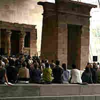 Concert at the Temple of Dendur at NYC's Metropolitan Museum of Art..
