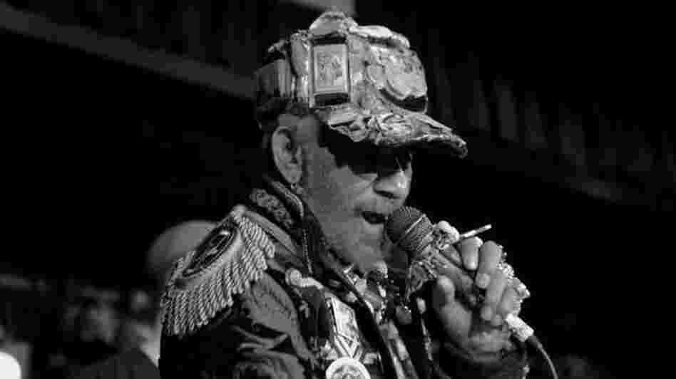 "Lee ""Scratch"" Perry performing at the Dub Invasion Festival in New York City on Sept. 10."