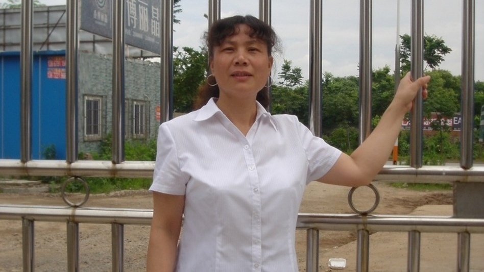After she tried to run in local elections in her hometown in Jiangxi province, Liu's house was raided, her electricity  turned off, and she was detained during the polls. (Courtesy of Liu Ping)
