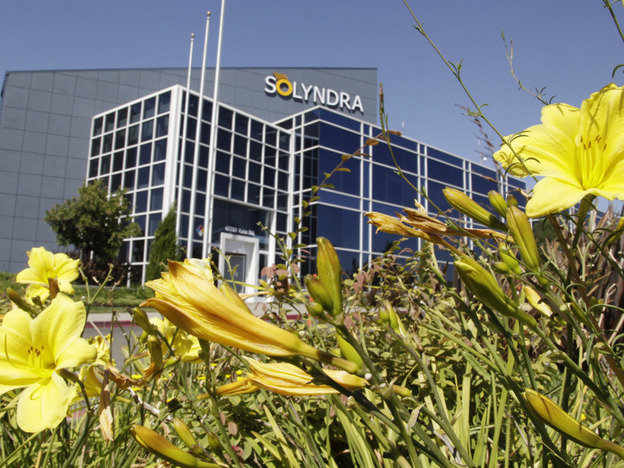 Solyndra's headquarters in Fremont, Calif. The solar energy company filed for Chapter 11 bankruptcy on Aug. 31.