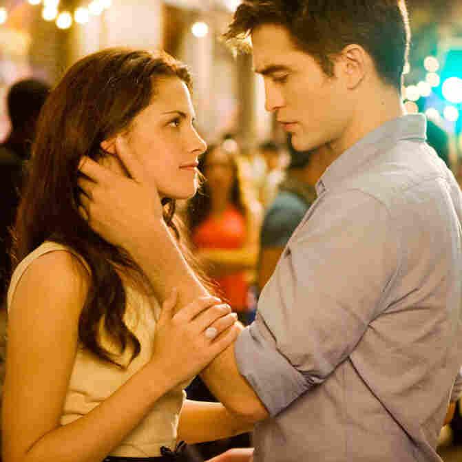 Kristen Stewart and Robert Pattinson in The Twilight Saga: Breaking Dawn Part 1.