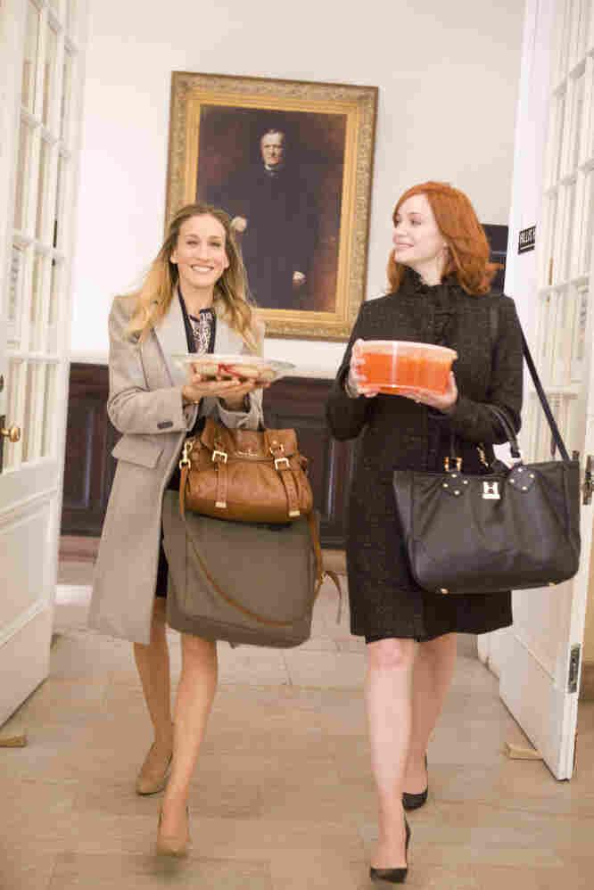 A criminally underused Christina Hendricks (right) plays Kate's best mate.