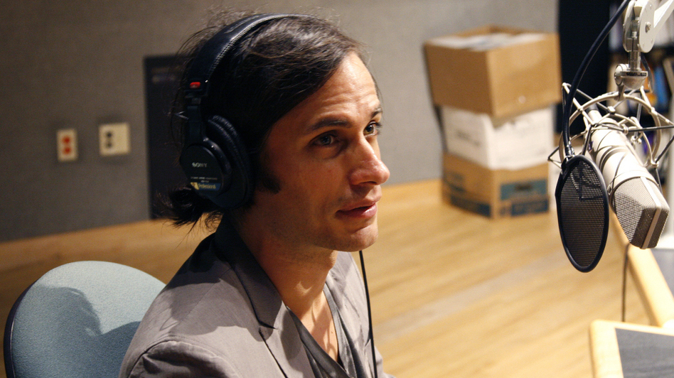 Actor Gael Garcia Bernal discusses The Invisibles, his collection of short documentaries, with Tell Me More at NPR headquarters in Washington, D.C. (NPR )