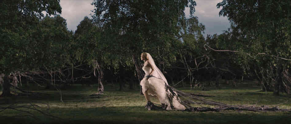 Bride flight: It's the end of the world as we know it in Lars von Trier's Melancholia, starring Kirsten Dunst (above), Charlotte Gainsbourg, Alexander Skarsgard and Kiefer Sutherland.