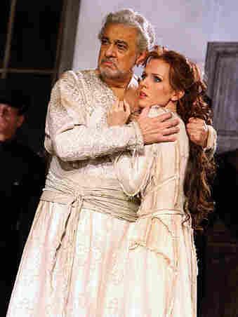 Placido Domingo stars as Bajazet, with soprano Sara Coburn as Asteria, in Handel's Tamerlano.
