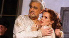Placido Domingo stars as Bajazet, with soprano Sara Coburn as Asteria, in Handel's Tamerlano.