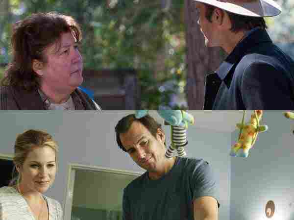 Clockwise from top: Margo Martindale in Justified; Will Arnett in Up All Night.