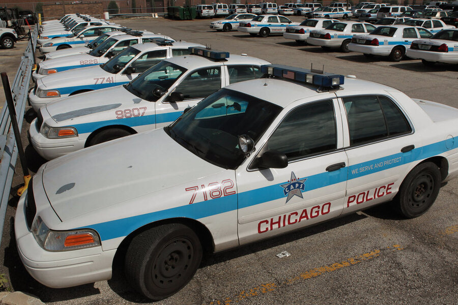 Ford Crown Victorias Sit In A Parking Lot Outside A Police Station In Chicago Sales
