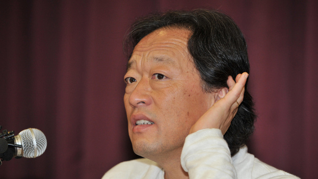 Chung Myung-Whun, conductor of the Seoul Philharmonic Orchestra, speaks during the press conference in Seoul on Sept. 16, 2011. (AFP/Getty Images)