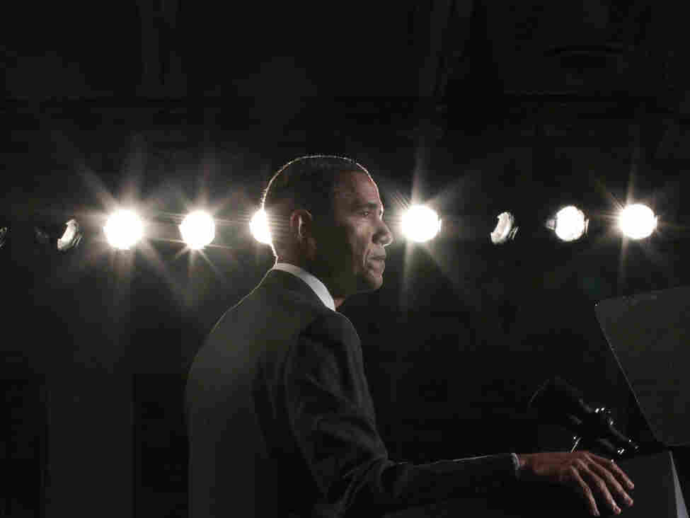 President Obama at Thomas Jefferson High School for Science and Technology in Alexandria, Va., Sept. 16, 2011.