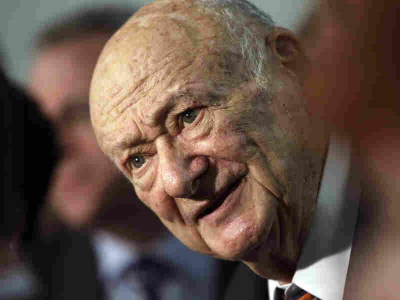 Former New York Mayor Ed Koch speaks during a news conference on March 1, 2011.
