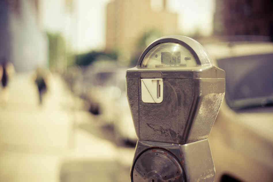 A parking meter in lower Manhattan. The picture was taken in June 2011.