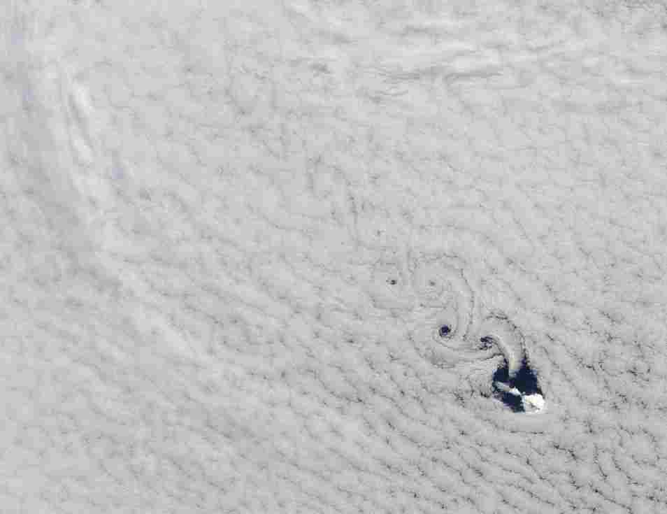 Cloud vortices off Heard Island, Sept. 19.