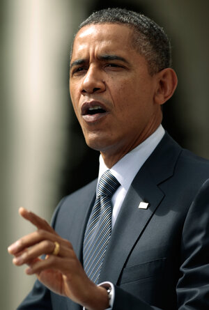 President Obama at the White House, talking about his deficit-reduction plan.