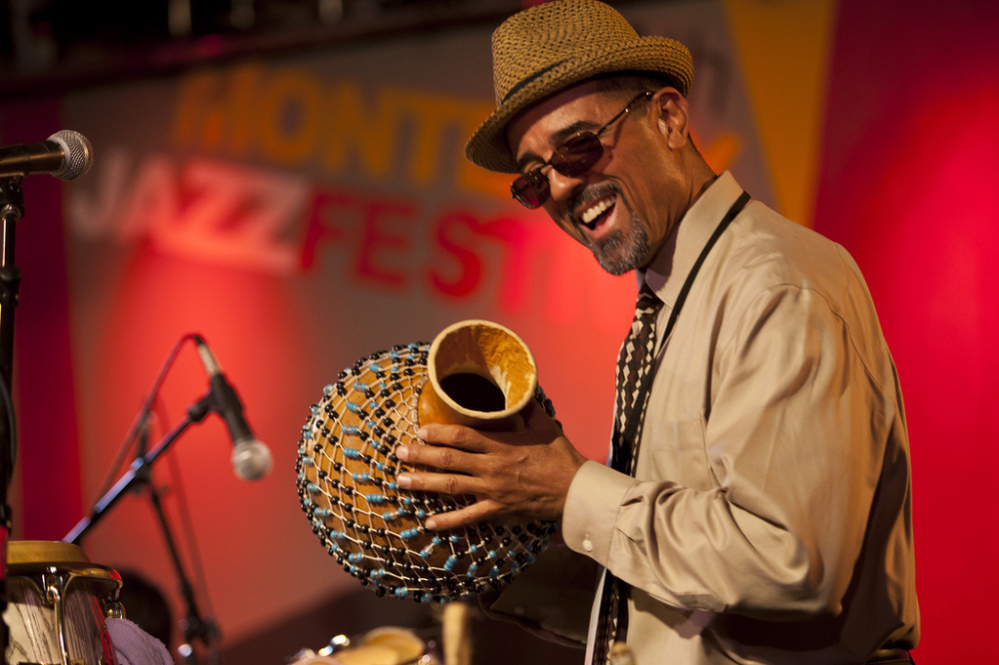 John Santos leads his sextet at the 2011 Monterey Jazz Festival.