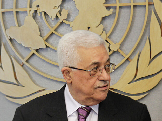 Palestinian President Mahmoud Abbas at the U.N. on Monday (Sept. 19, 2011).