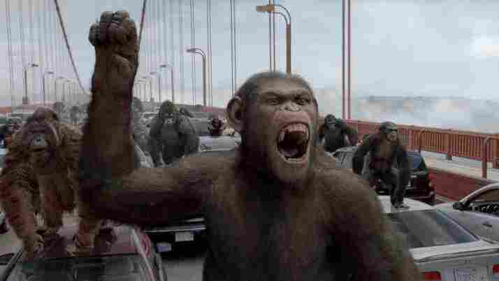 Caesar (Andy Serkis) leads his army of apes in a revolt against the humans, who imprison his kind for use in drug experiments.