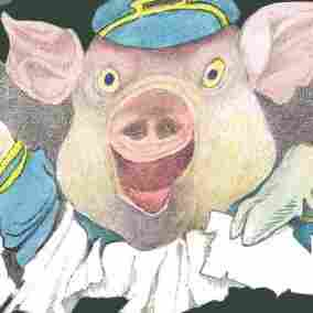 Detail from the cover of Bumble-Ardy by Maurice Sendak.