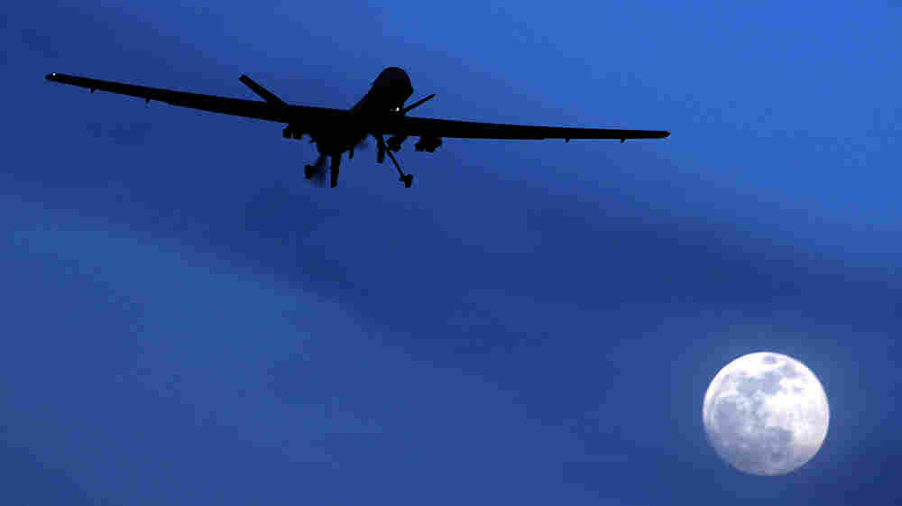 A U.S. Predator drone above southern Afghanistan in January 2010.