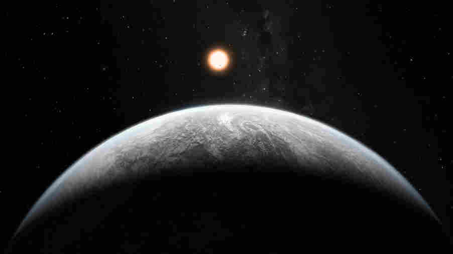 This artist's impression shows the planet orbiting the Sun-like star HD 85512 b in the southern constellation of Vela (The Sail).