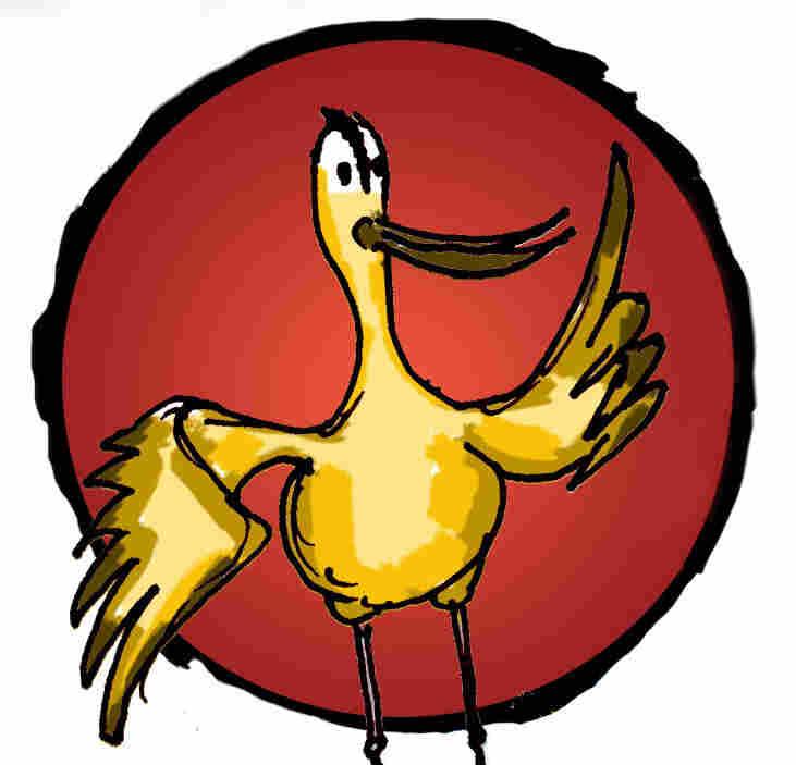 An illustration of a Bar-tailed Godwit.