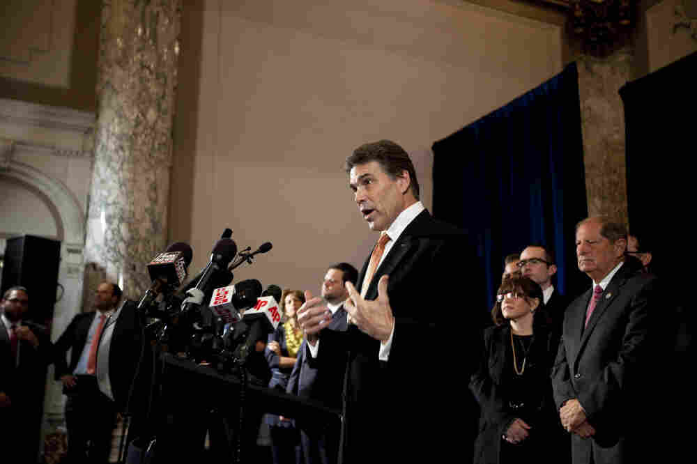 Texas Gov. Rick Perry blasted President Obama's handling of the Israel-Palestinian conflict, Sept. 20, 2011.
