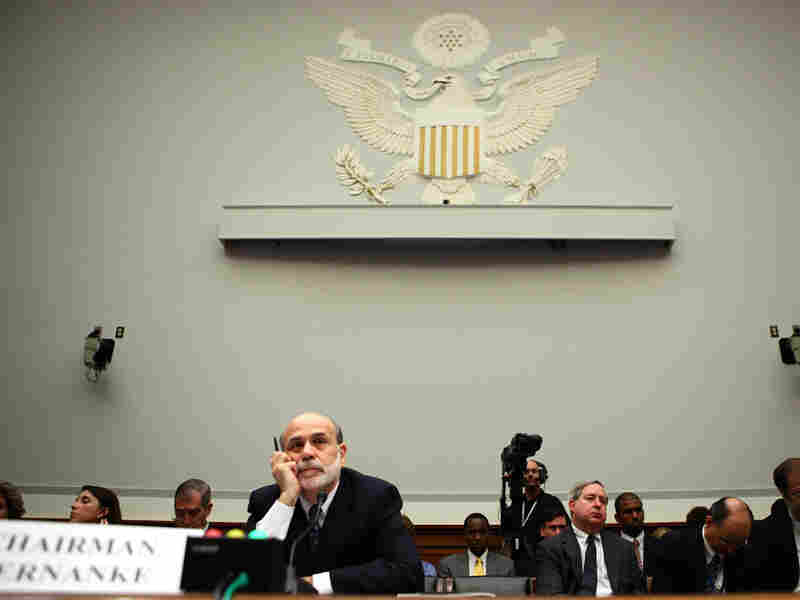Federal Reserve Board Chairman Ben Bernanke testifies before the House Financial Services Committee in July 2010. Bernanke has been heavily criticized by Republican presidential candidates in recent months.