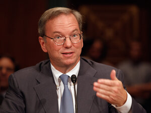 Google Executive Chairman Eric Schmidt testifies before the Senate Judiciary Committee's Antitrust, Competition Policy and Consumer Rights Subcommittee on Wednesday.