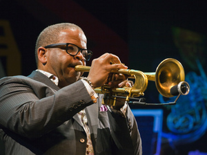 Terence Blanchard performs with the Vince Mendoza Orchestra in a tribute to the music of Miles Davis and Gil Evans.