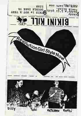The cassette cover of Bikini Kill's Revolution Girl Style Now. [NOTE: