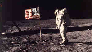 "July 20, 1969: astronaut Edwin E. ""Buzz"" Aldrin Jr.  on the moon."