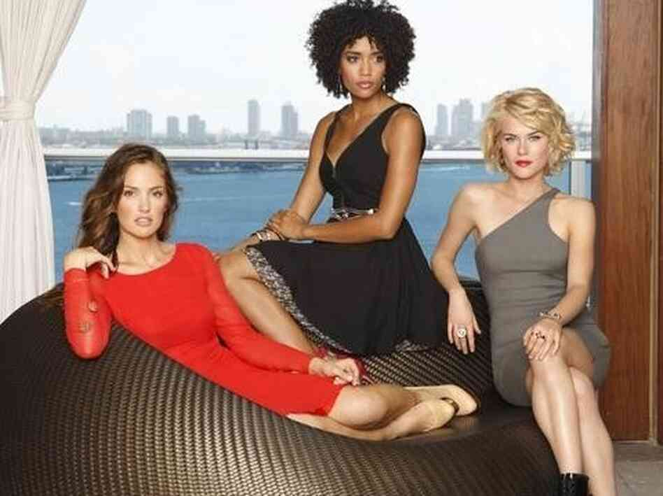 ABC's Charlie's Angels stars Minka Kelly, Annie Ilonzeh, and Rachael Taylor.
